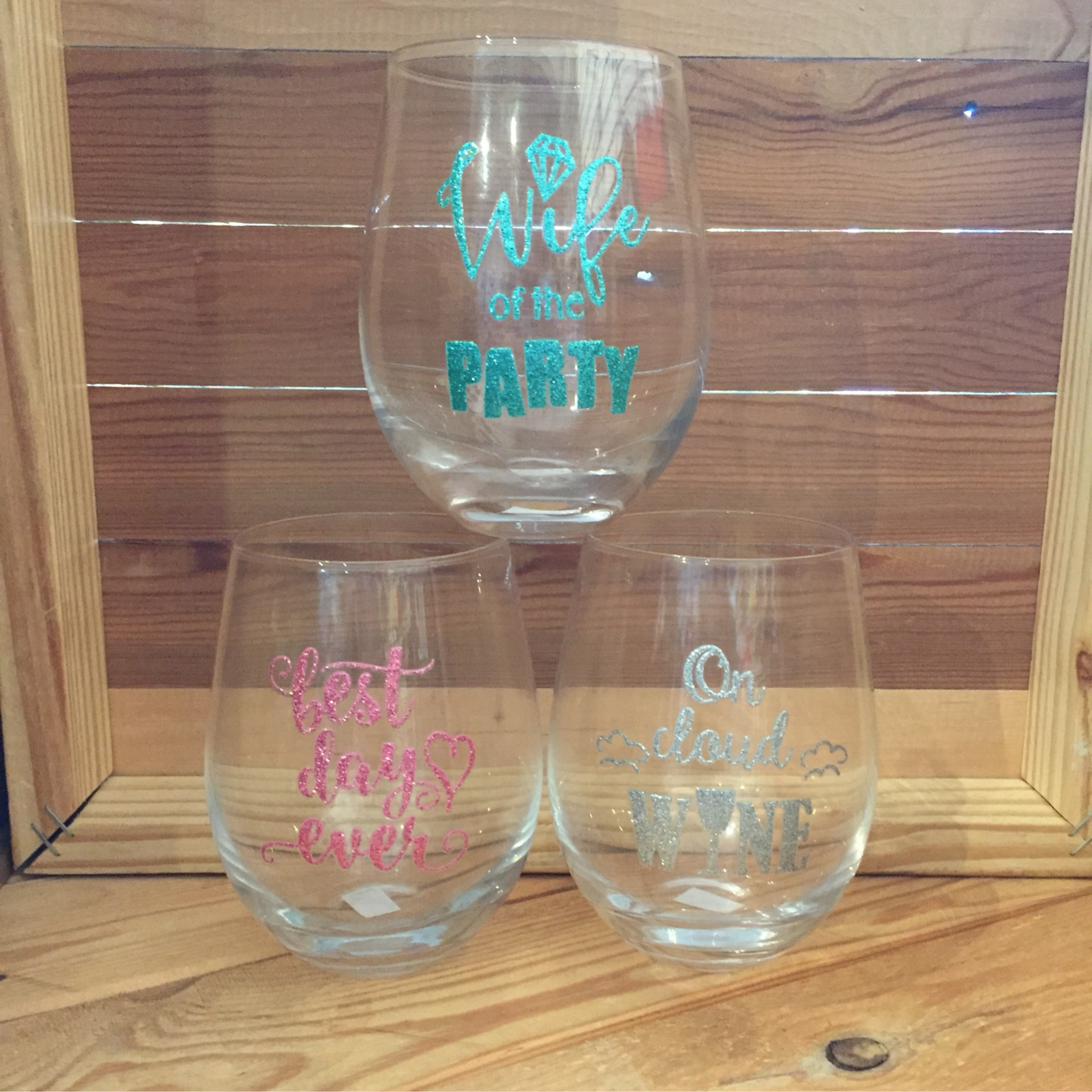 Wine Glass (Best Day, Cloud Wine, Wife of Party)