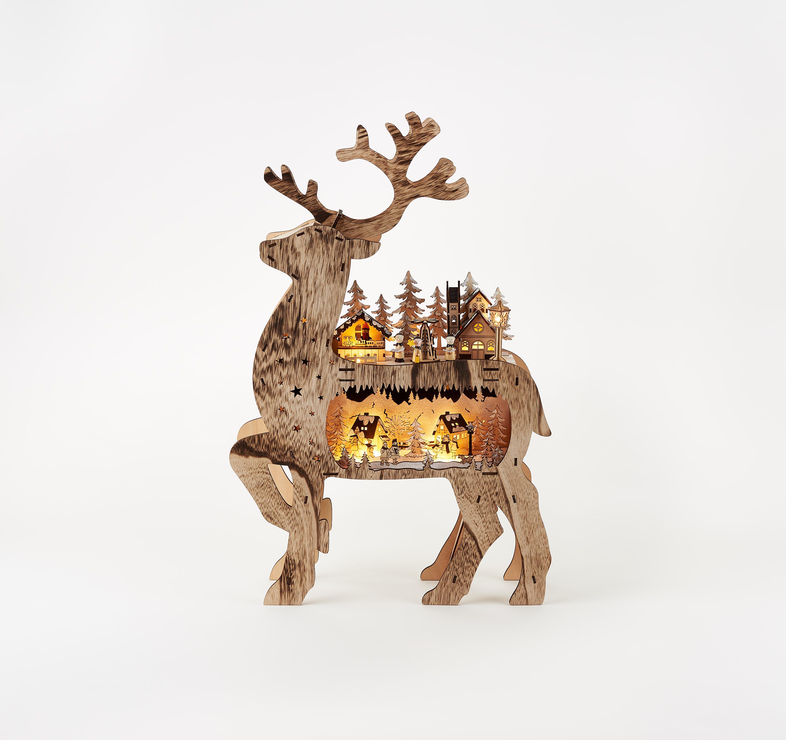 180 Degrees Rustic Reindeer Village CY0060