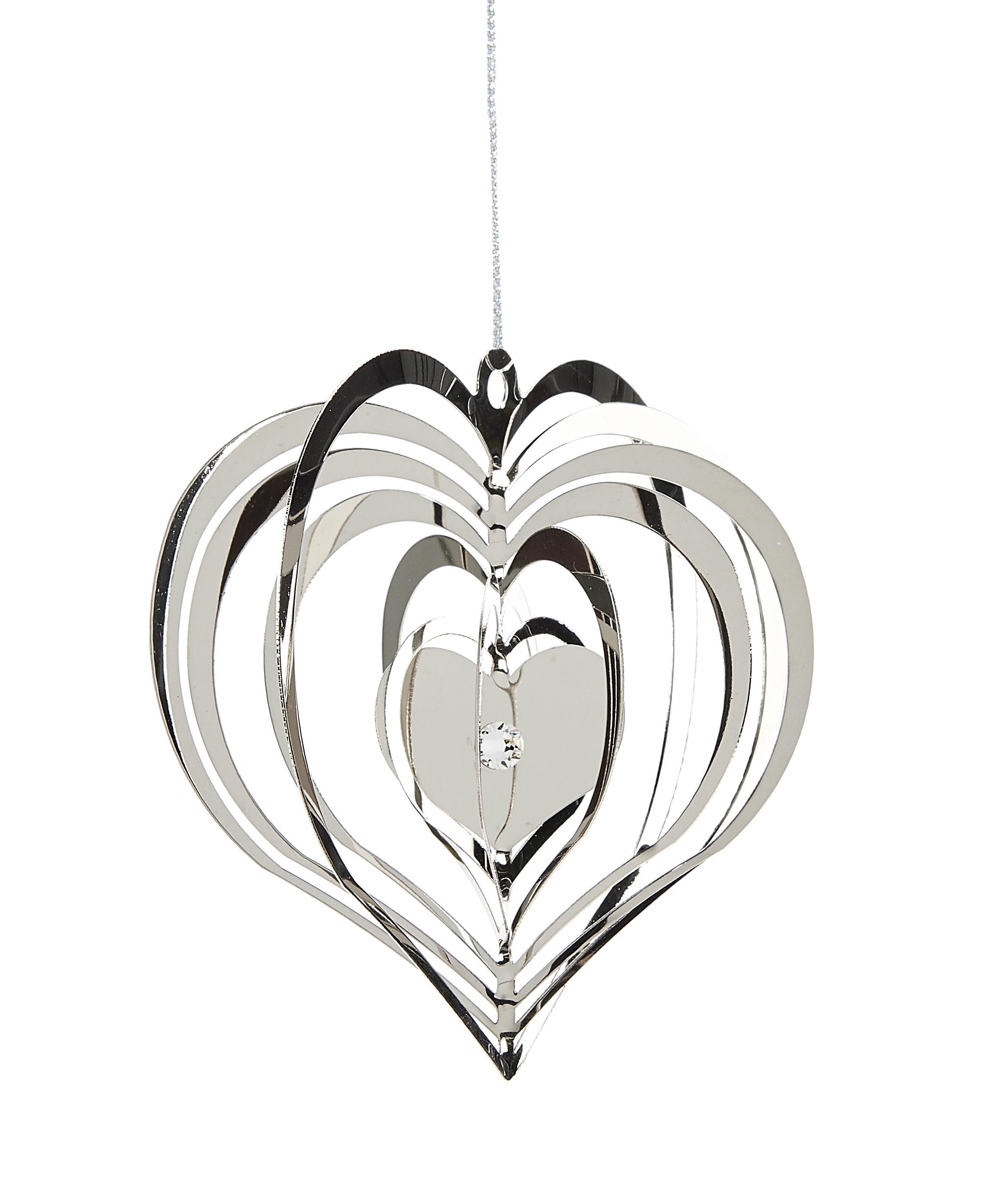 3D Metal Heart Ornament