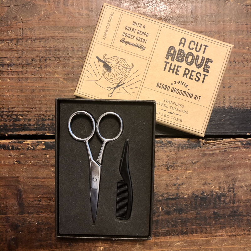 Two's Company A Cut Above Beard Grooming Kit