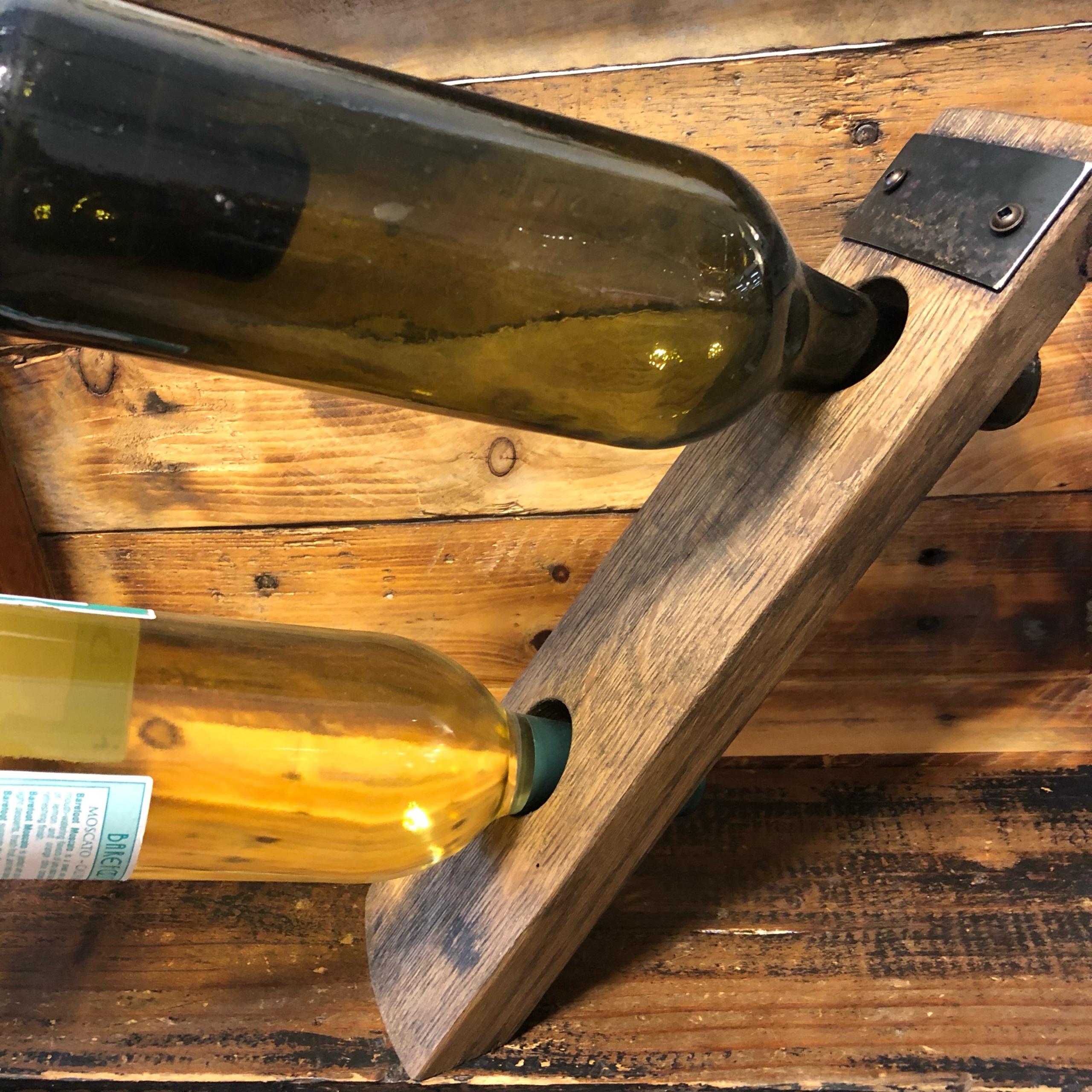 Balancing Barrel Stave Wine Holder 2 Bottles