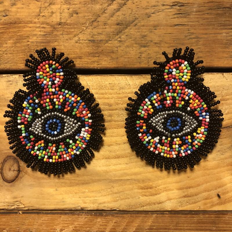 Beaded Eyes earrings