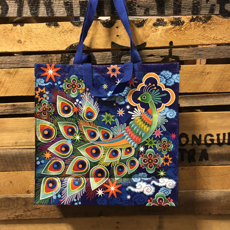 Blue Q Recycled Jumbo Tote Peacock