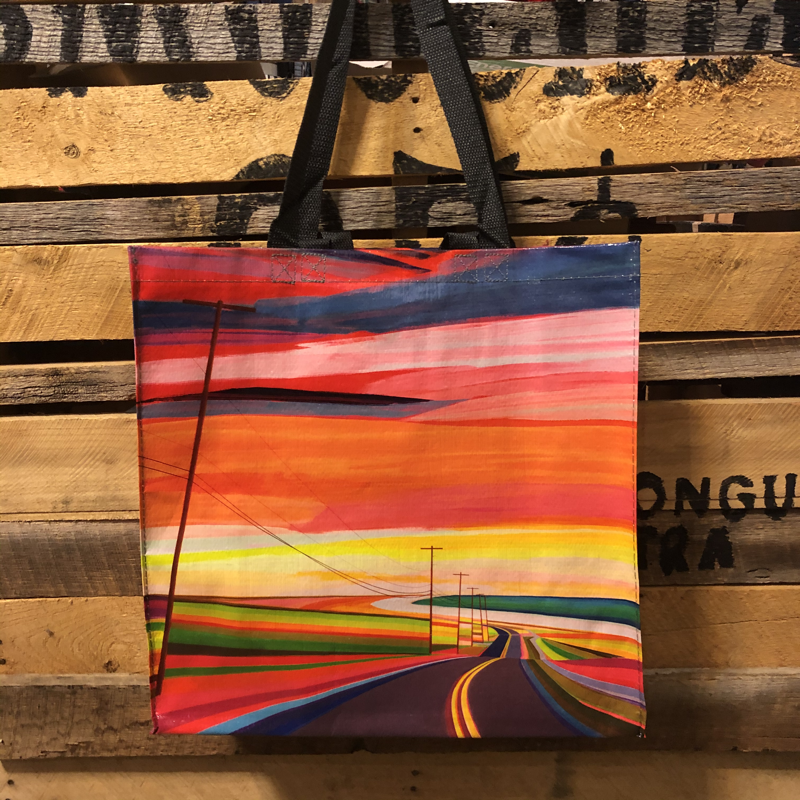 Blue Q Recycled Jumbo Tote Sunset Drive