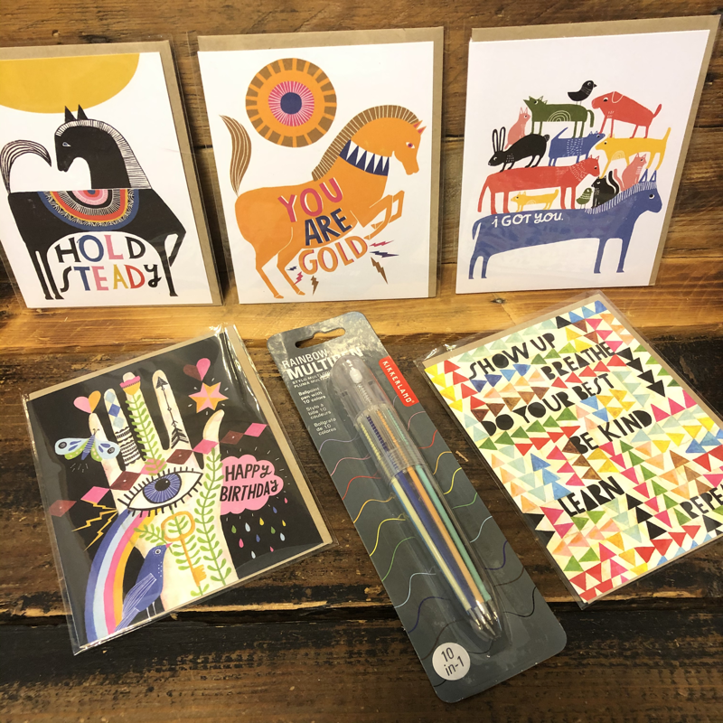 Card and Writing Set with Emily McDowell Greeting Cards and Multi-color click pen