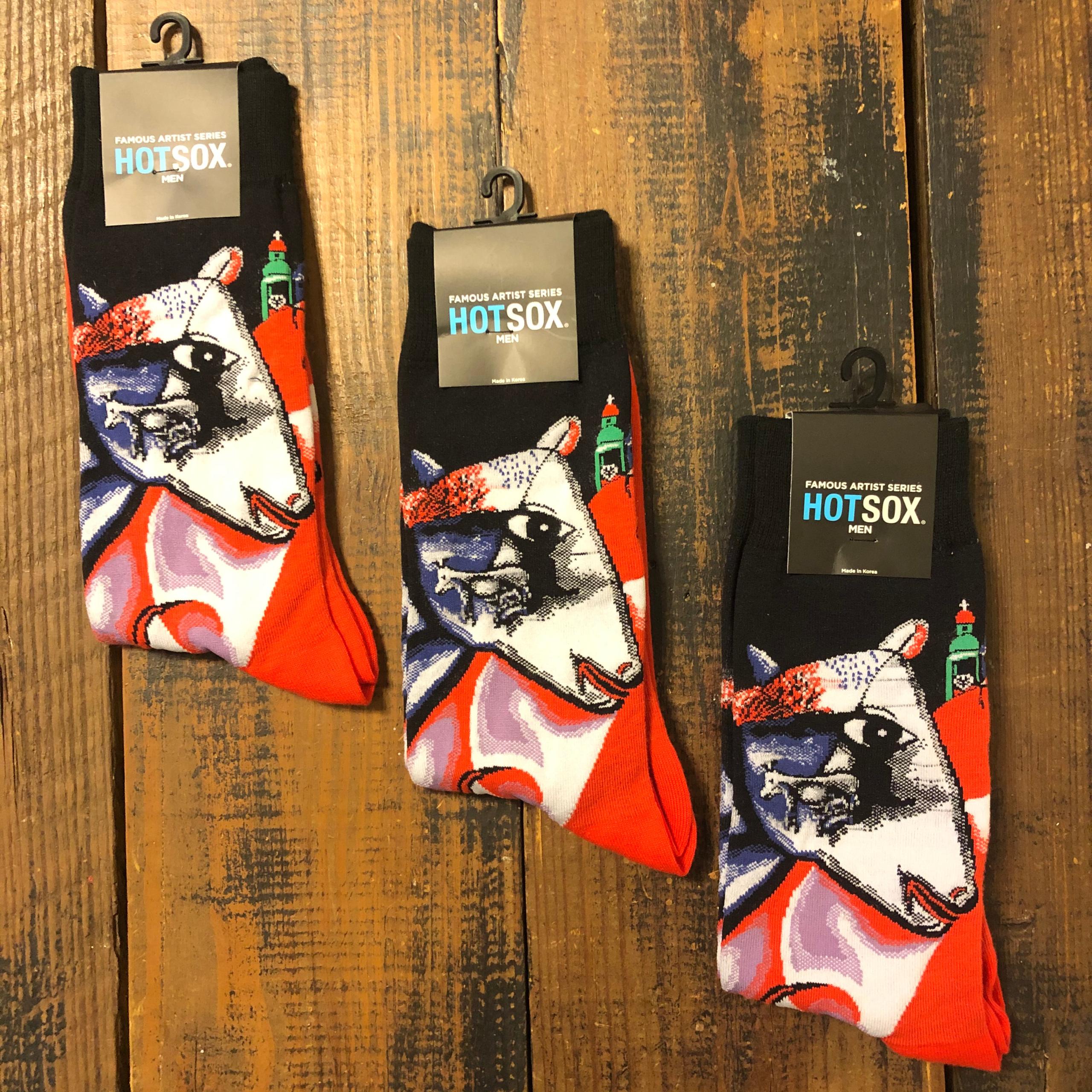 Hot Sox Chagall's Man, Horse, Path Men's Sock