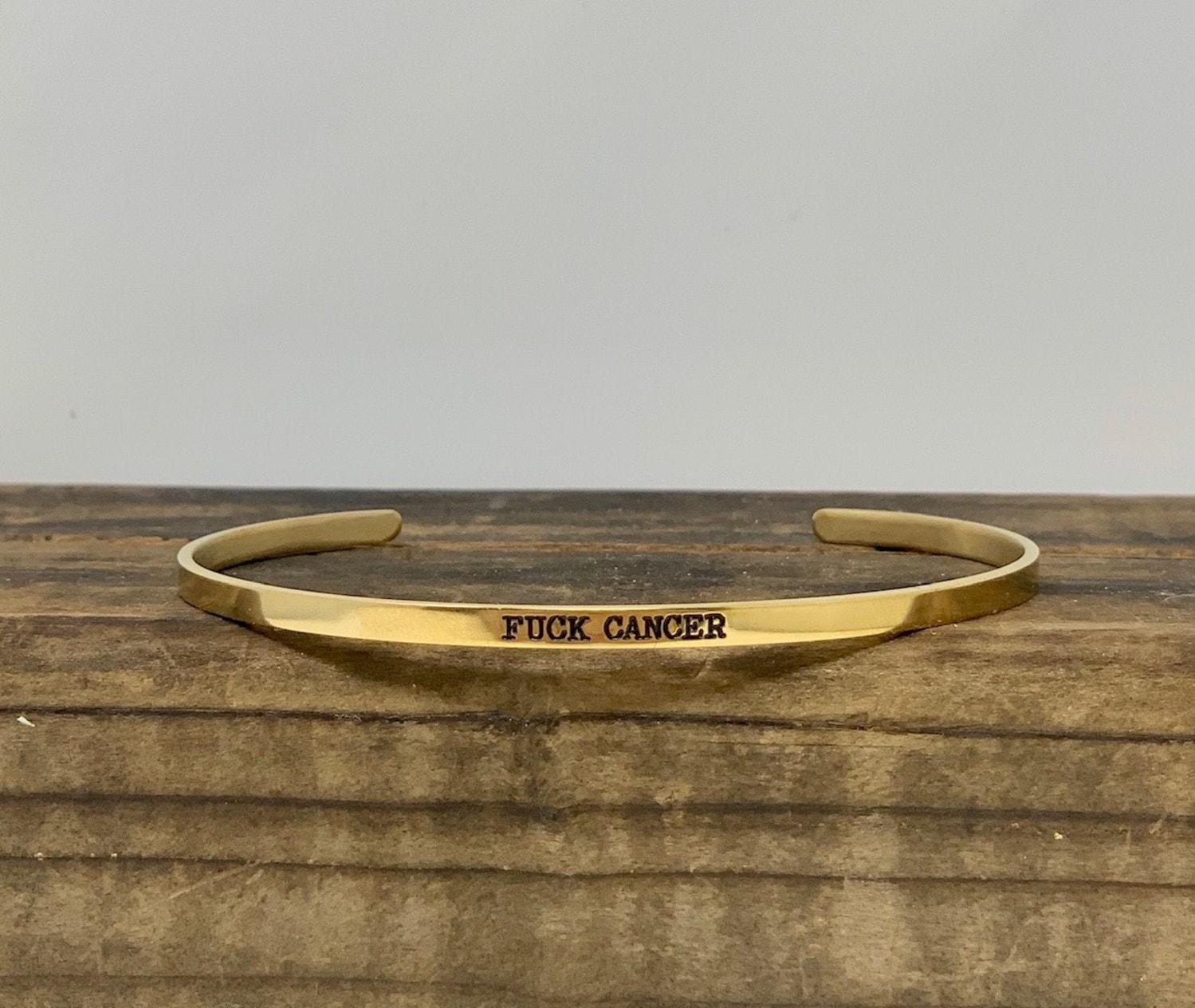 FFF Fuck Cancer Bracelet Gold