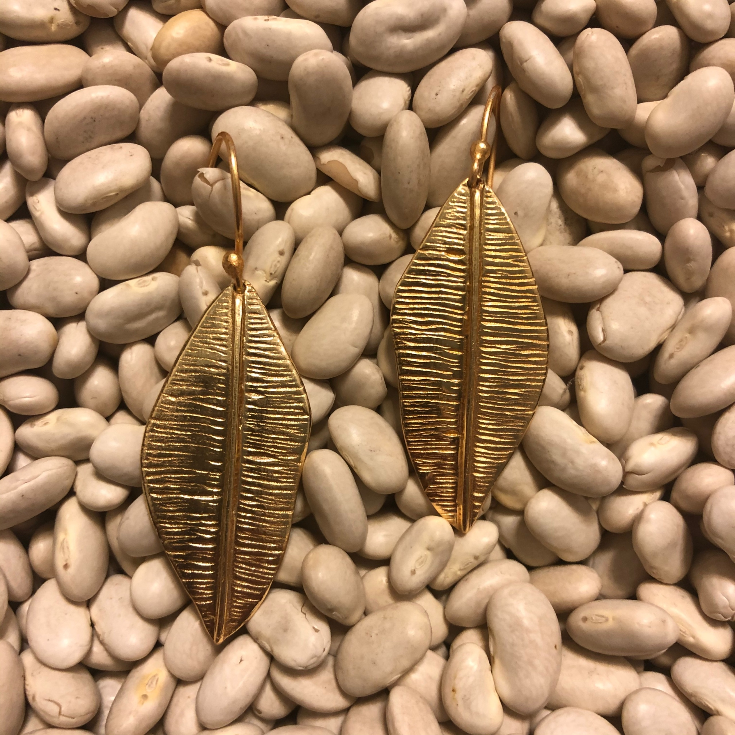 Gold color Feather earrings 2