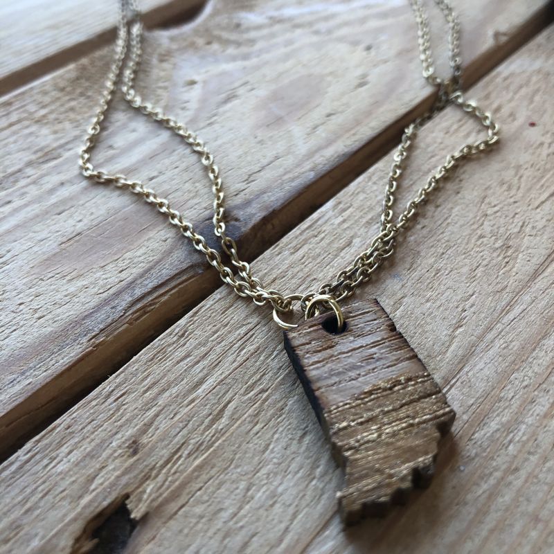 Indiana Necklace JD4 - Double Chain Gold Dipped