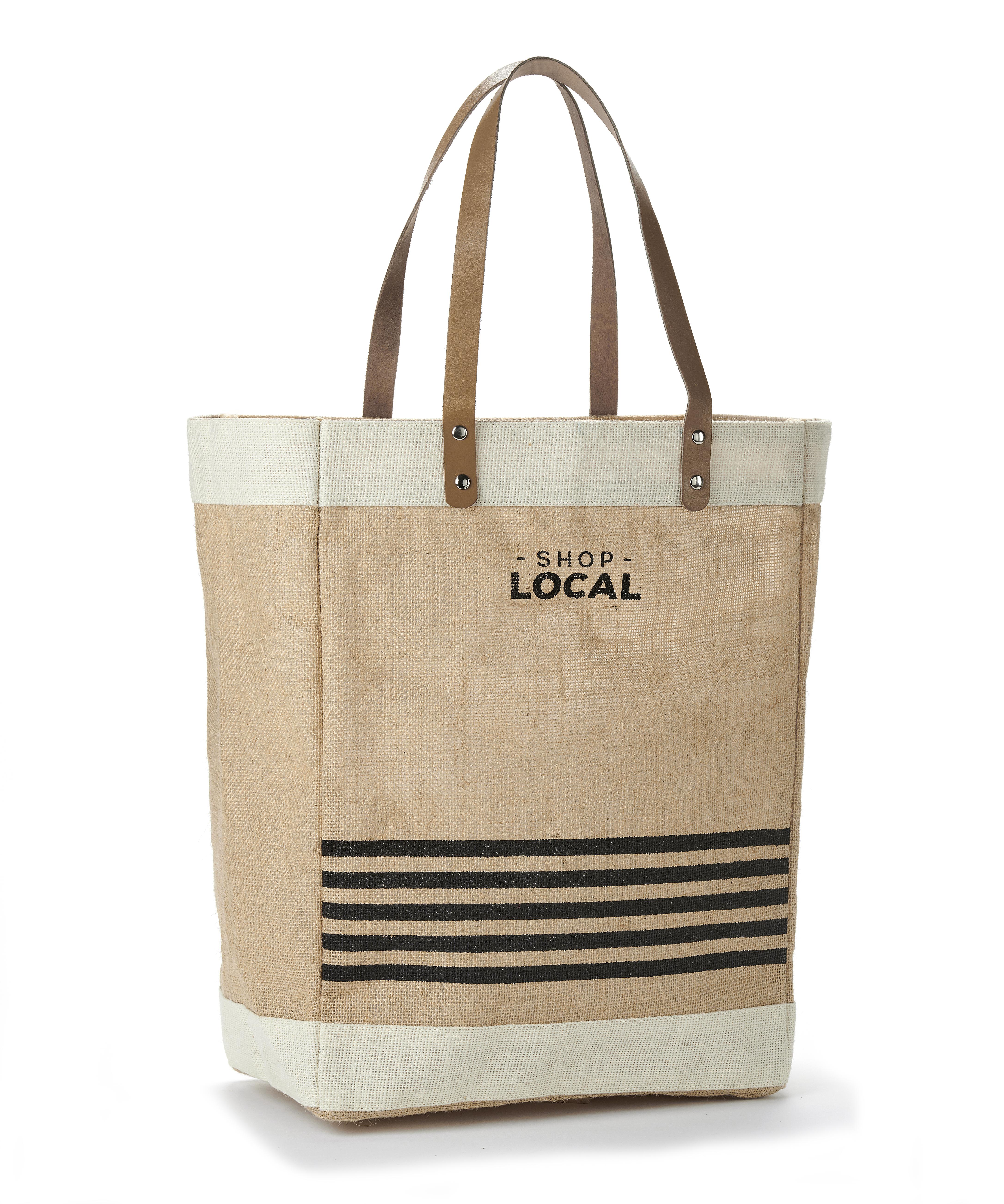 Jute Shop Local Tote Bag