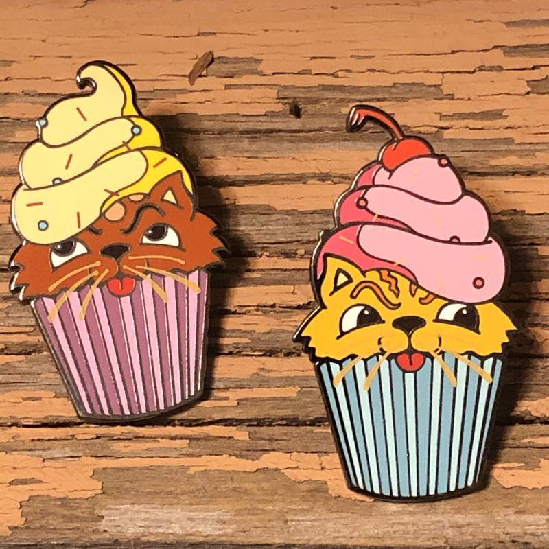 Kitty Cupcake Enamel Pin Set/2