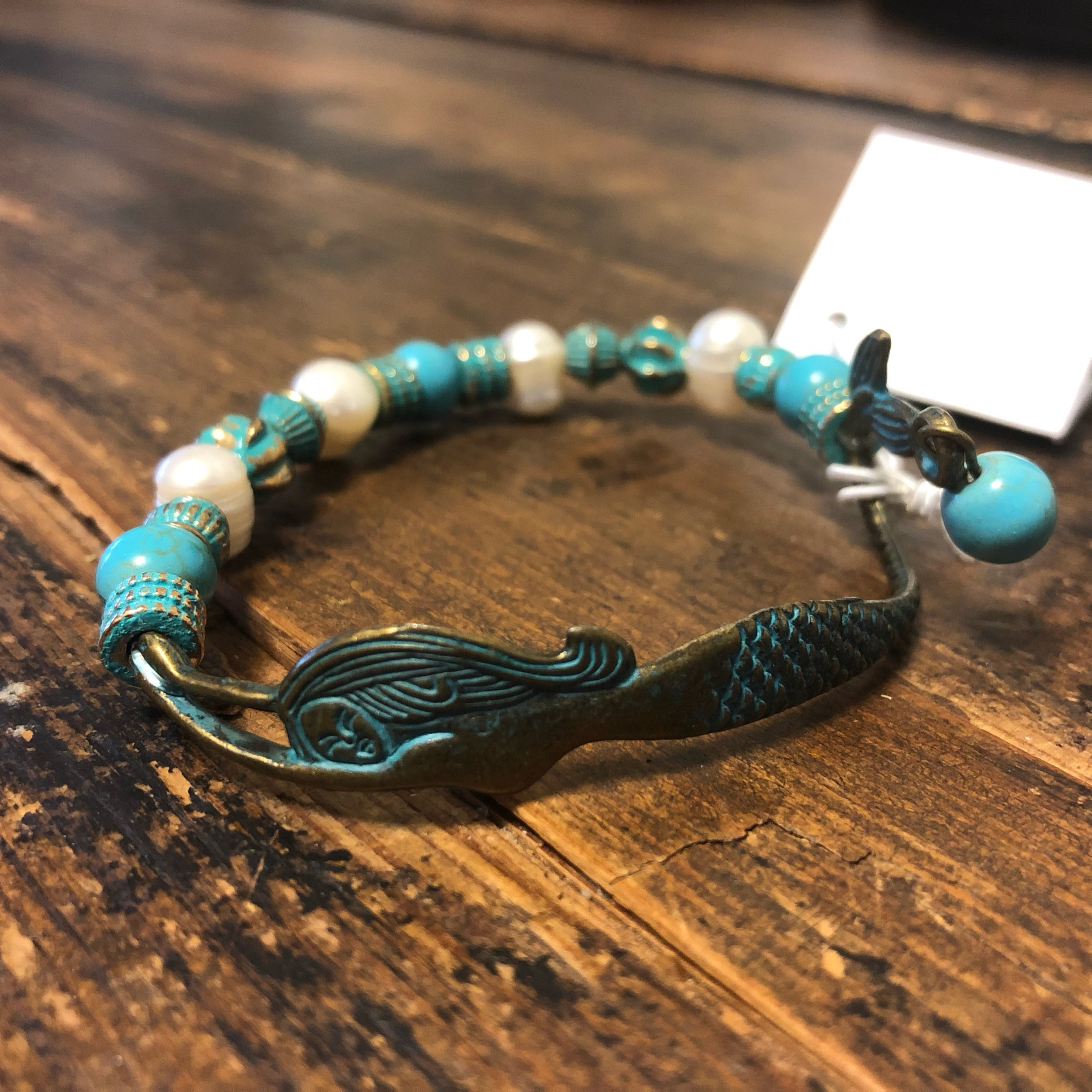 Patina Brass Mermaid Bracelet