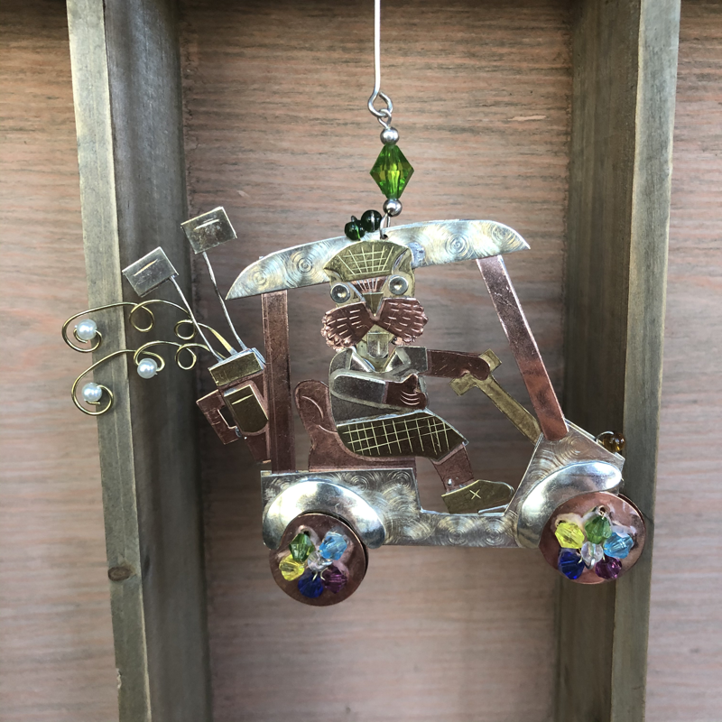 Pilgrim Imports Ornament -  Golf Cart