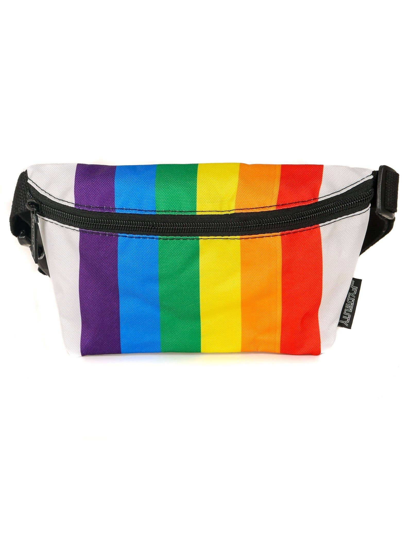 Rainbow Stripe Ultra-Slim Fanny Pack