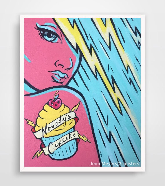 Sinisters Cupcake print