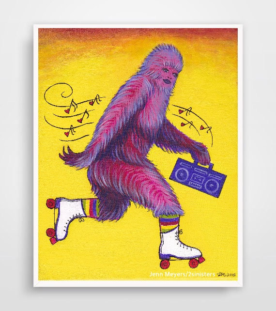Sinisters Girlie Squatch print