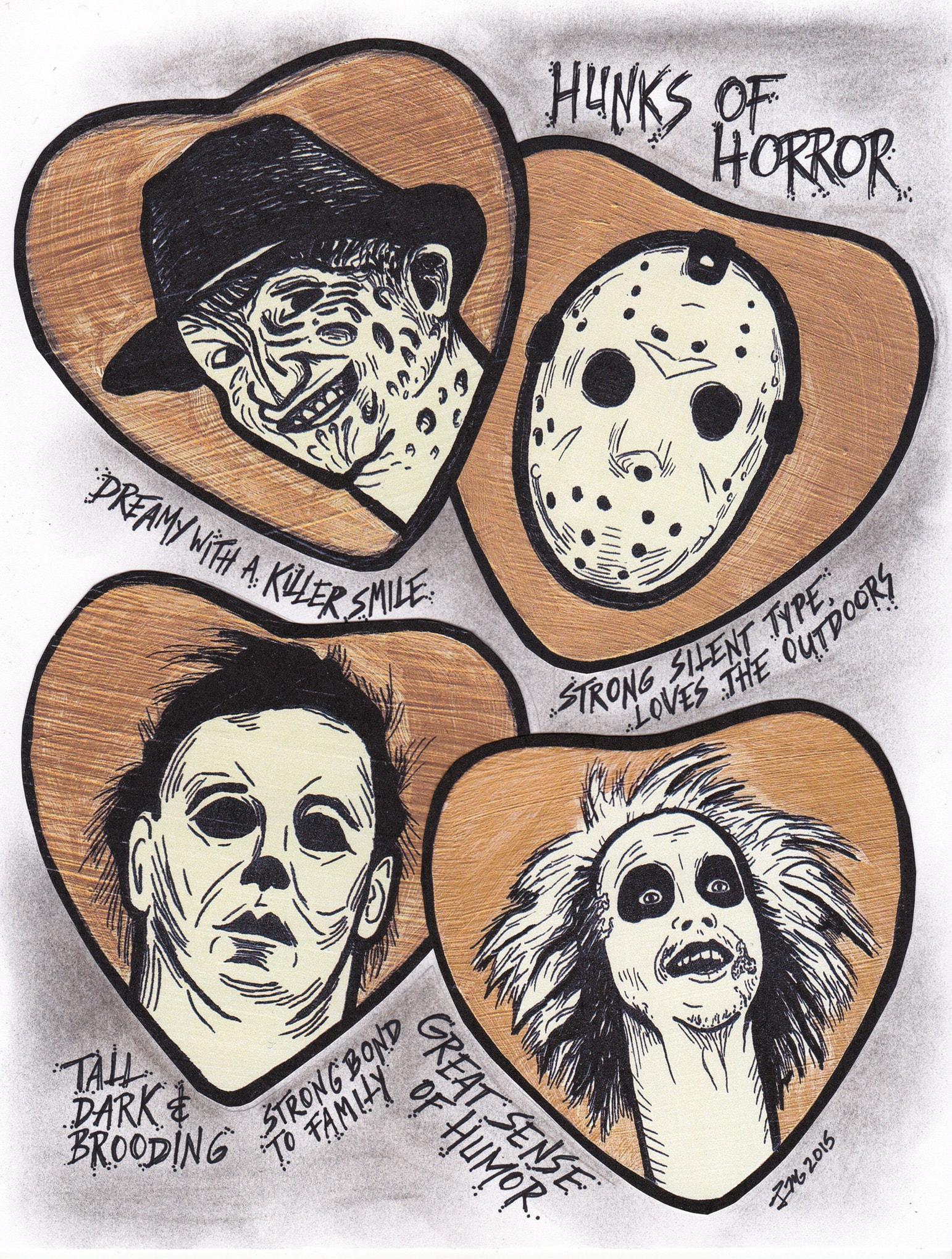 Sinisters Hunks of Horror print