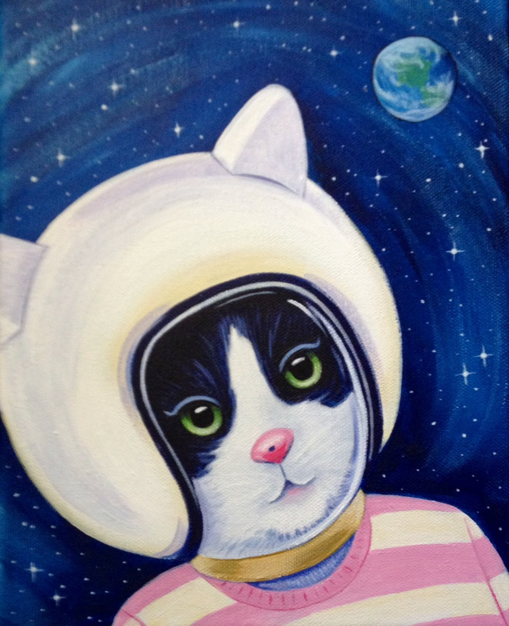 Sinisters Space Kitty print