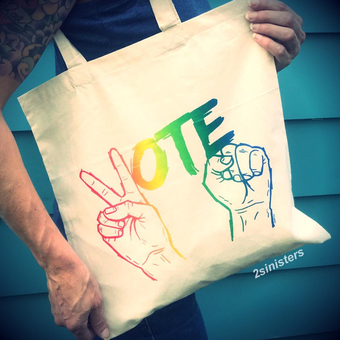 Sinisters Vote Tote; rainbow