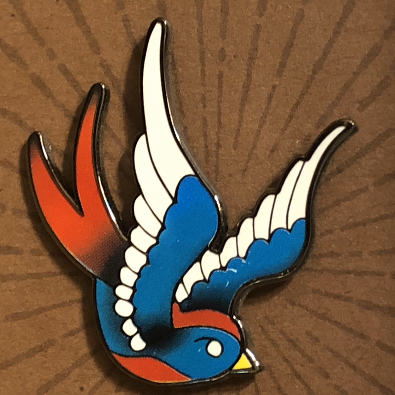 Tattoo Swallow Enamel Pin