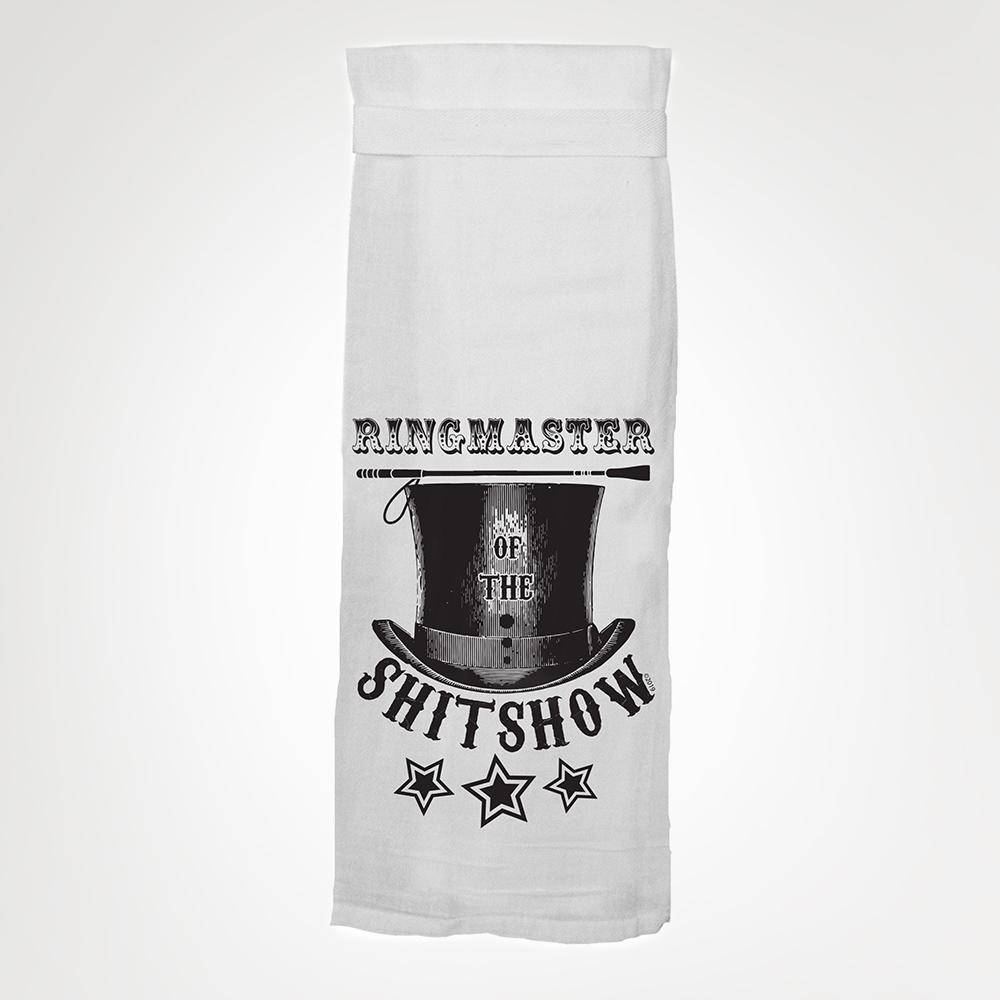 Twisted Wares Ringmaster Tea Towel