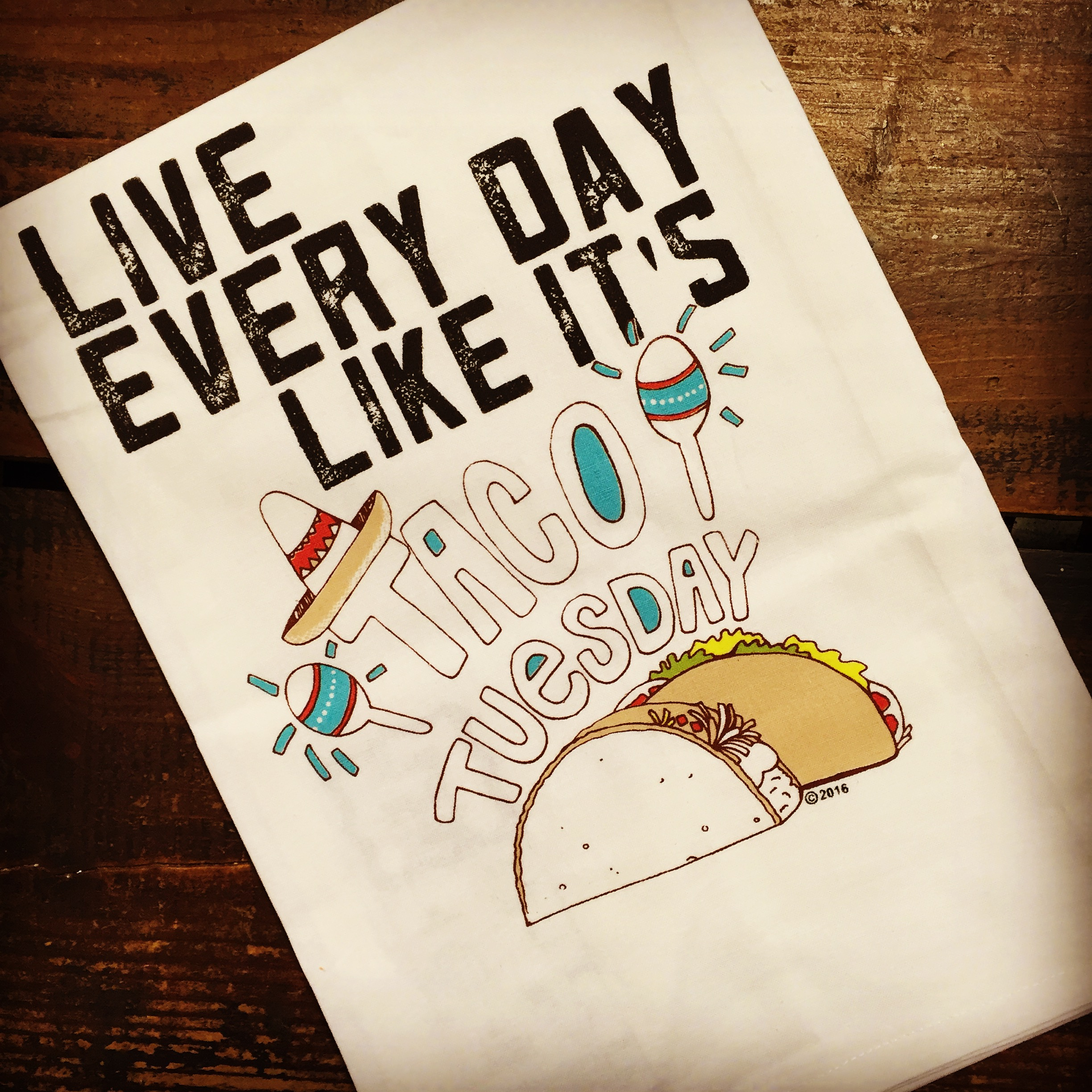 Twisted Wares Taco Tuesday Tea Towel