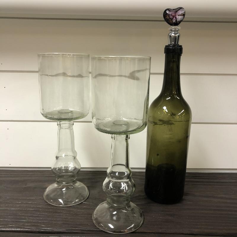 Upcycled Bottle Goblet Set/2