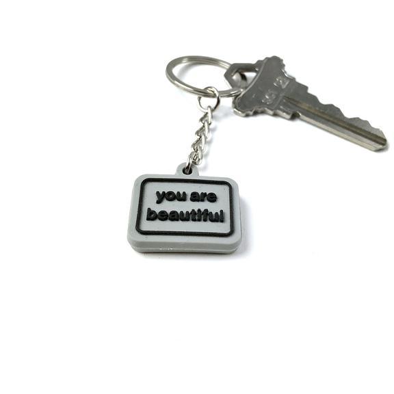 You Are Beautiful Keychain