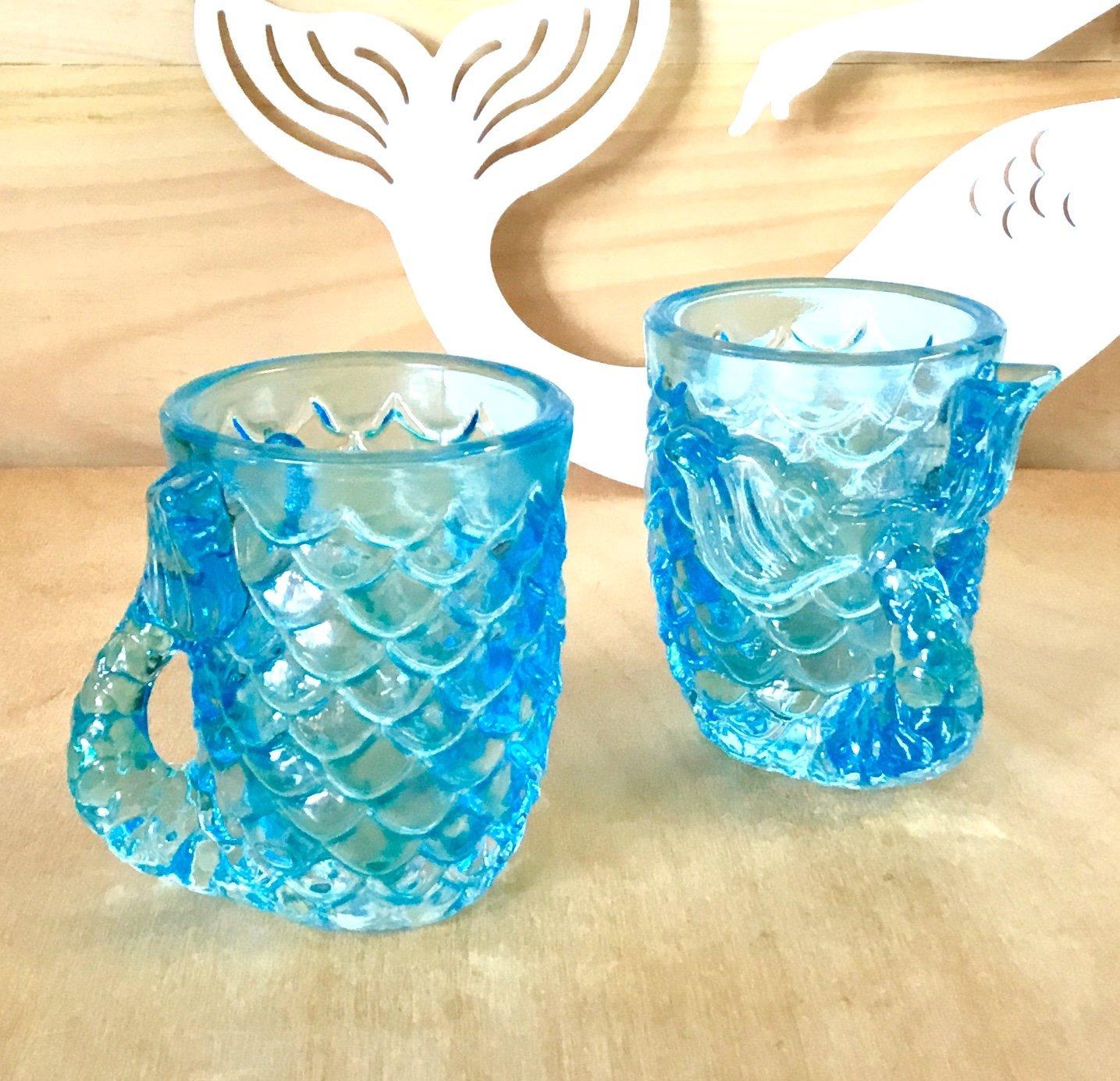 Two's Company Mermaid Tail Shot Glass Set/4