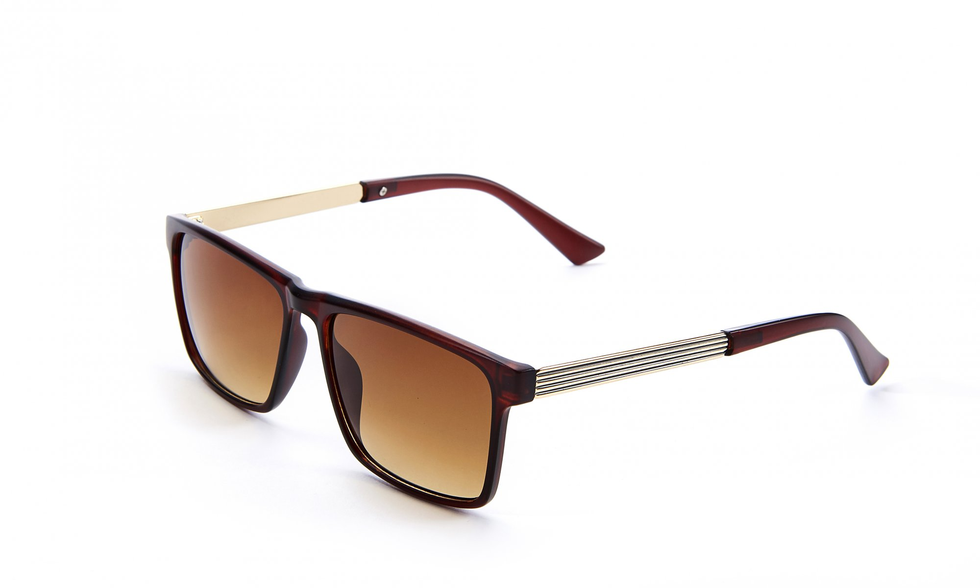 Brown/Gold Sunglasses with Case & Cloth