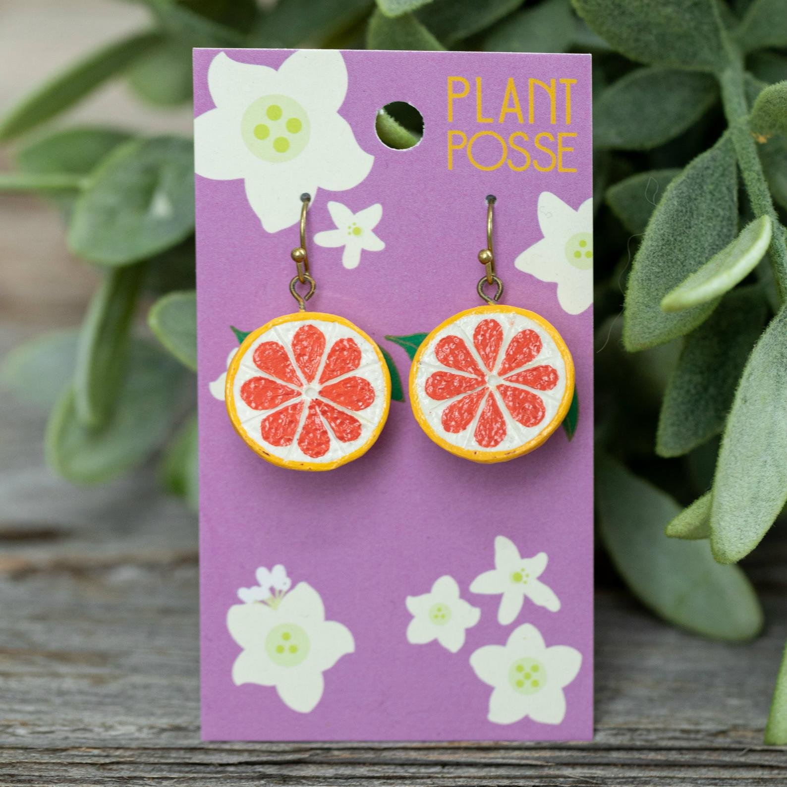 PP Clay - grapefruit dangle