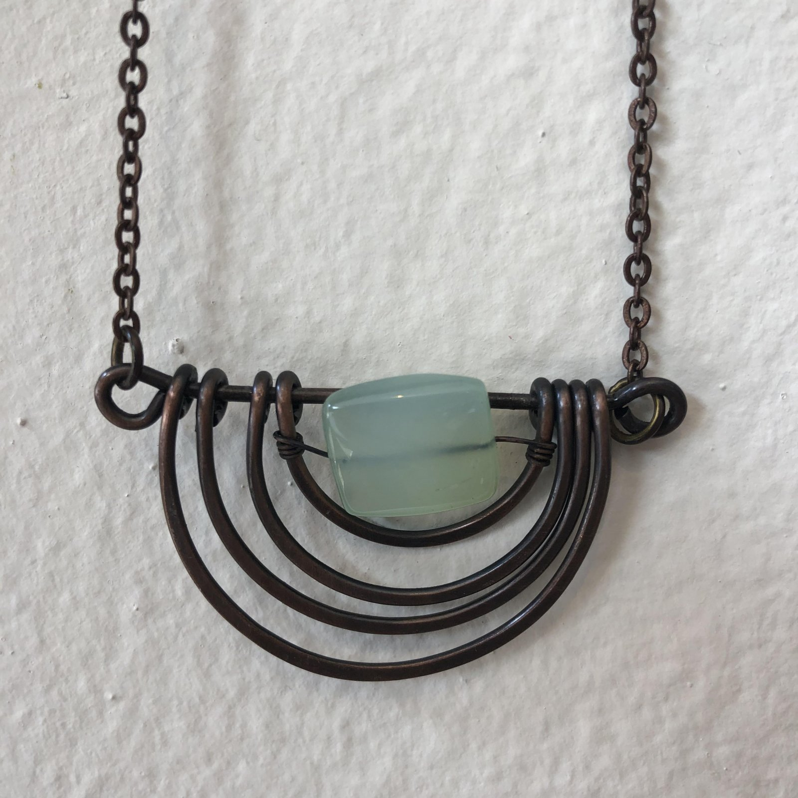 Anju Copper with Green Stone Necklace