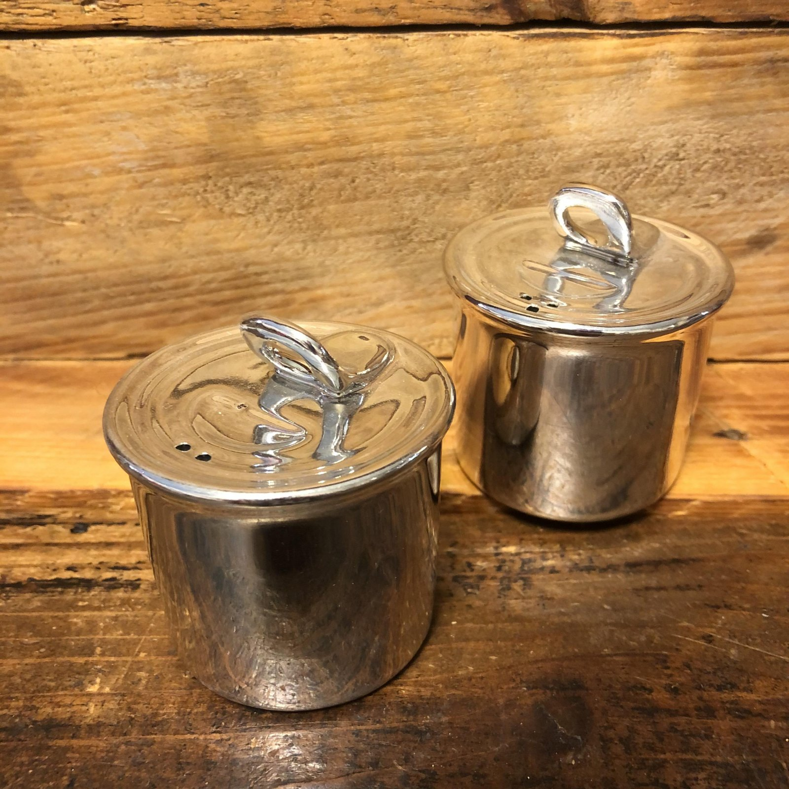 Silver Can Salt and Pepper