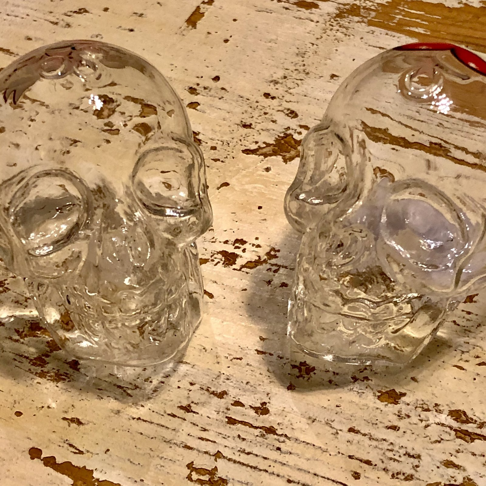 Crystal True Love Skull Salt and Pepper
