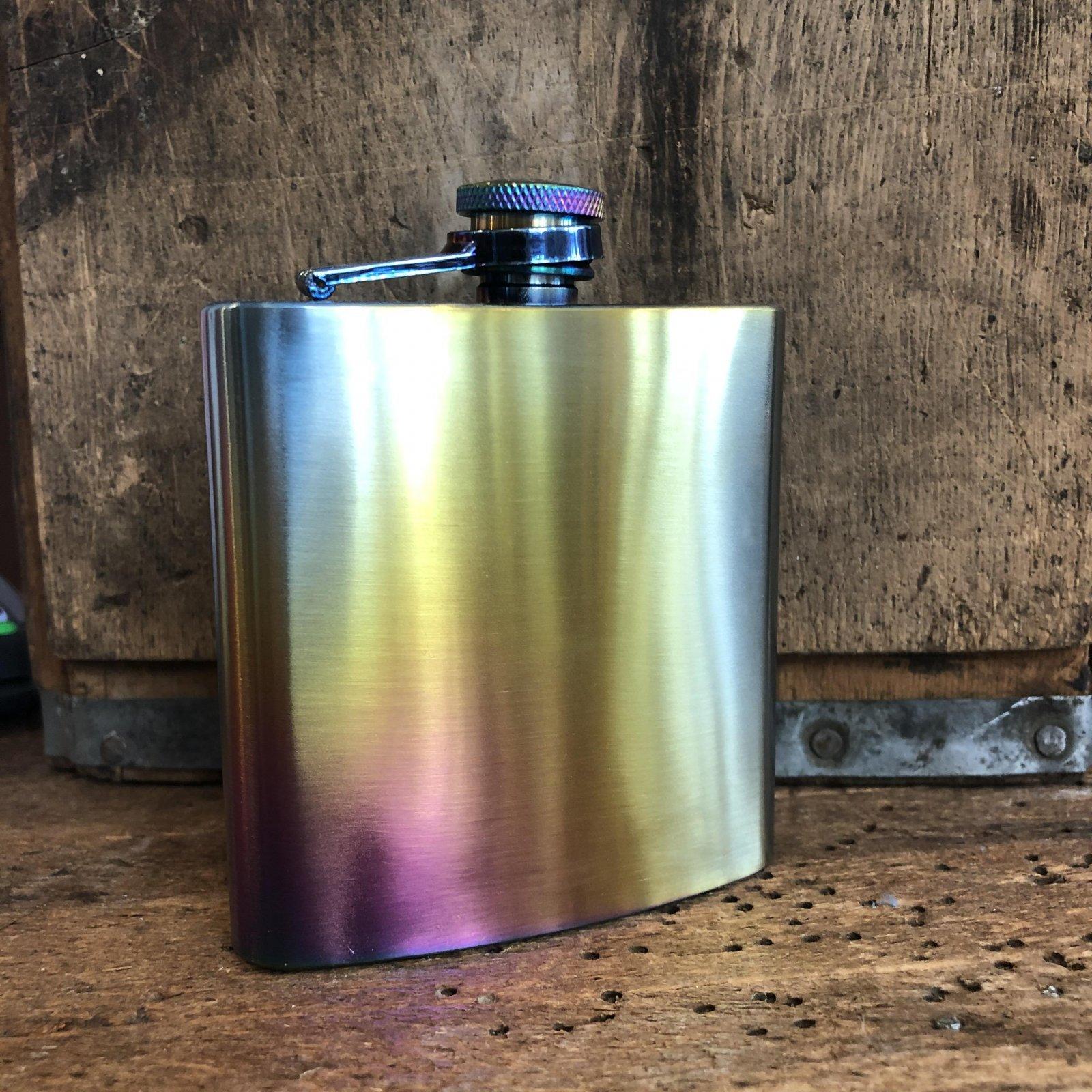Iridescent Flask - Steel