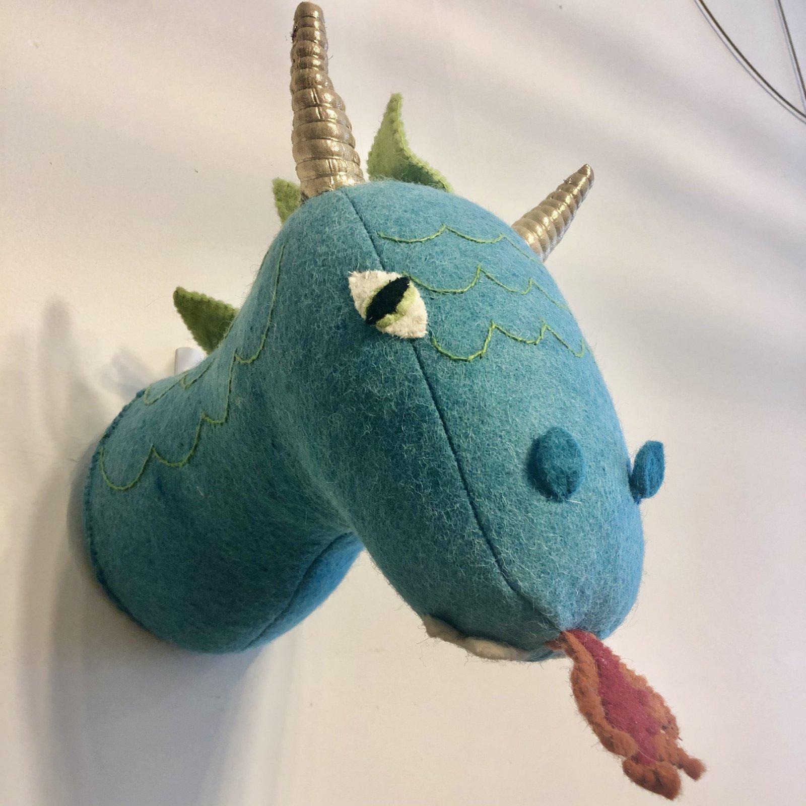 Felt Dragon Head