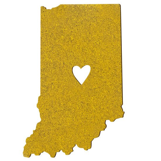 About Face Gold Glitter Indiana Car Magnet Large
