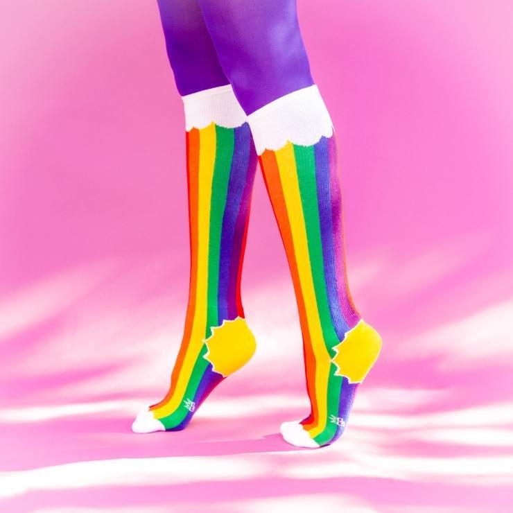 Gumball Poodle Rainbow Cloud Knee Socks