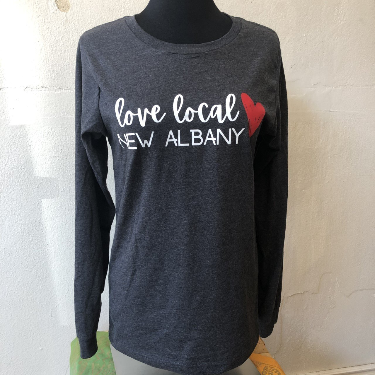 Love Local New Albany L/S T-Shirt - Charcoal