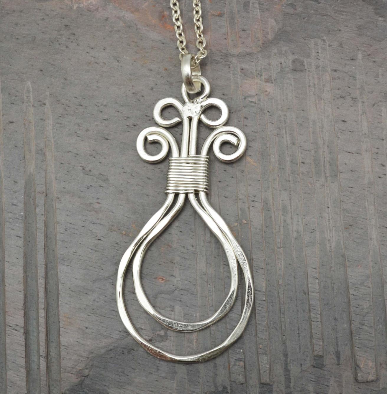 Anju Silver Pl Necklace N419LS