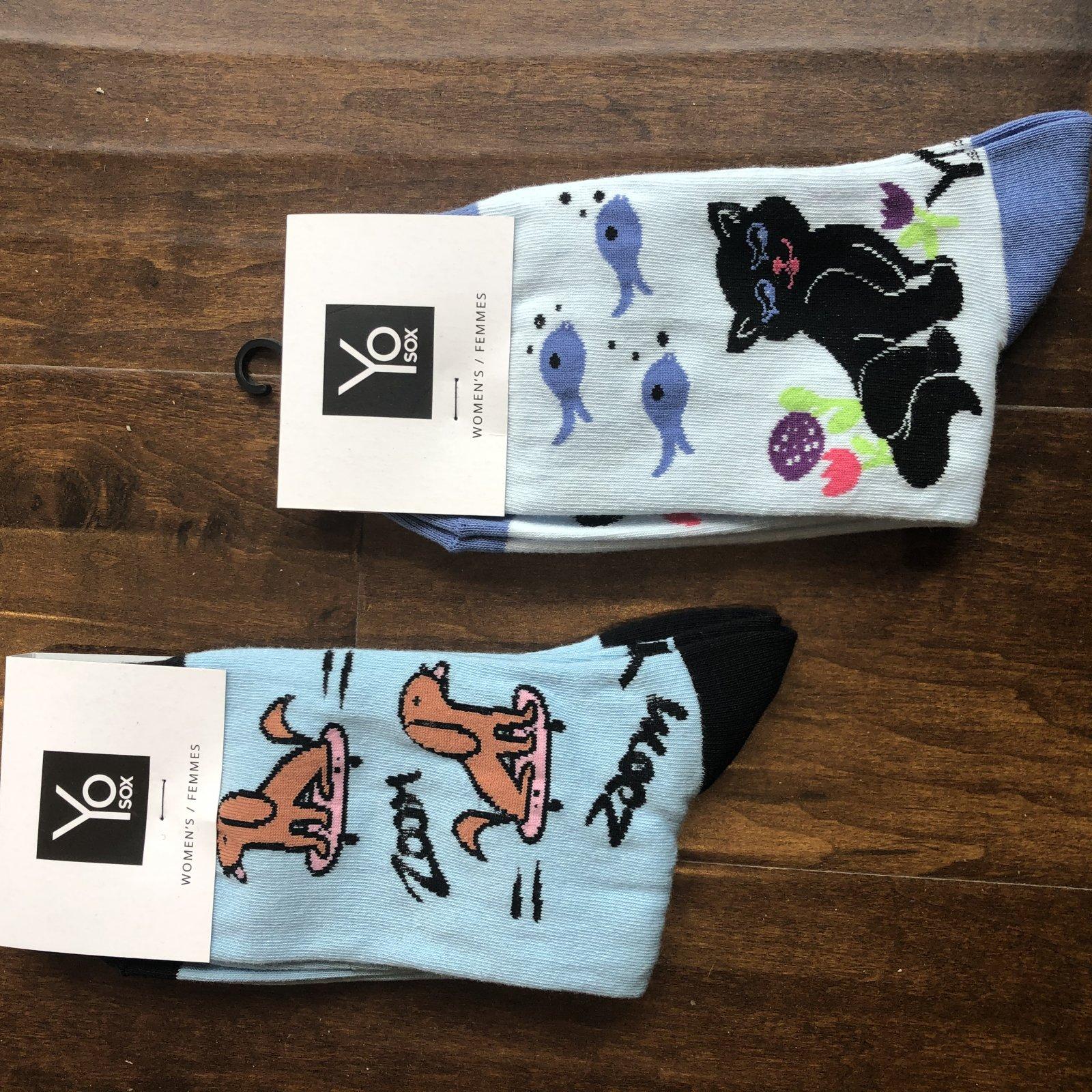 Yo Sox - Women's (Dog Skateboard, Cat & Fish)