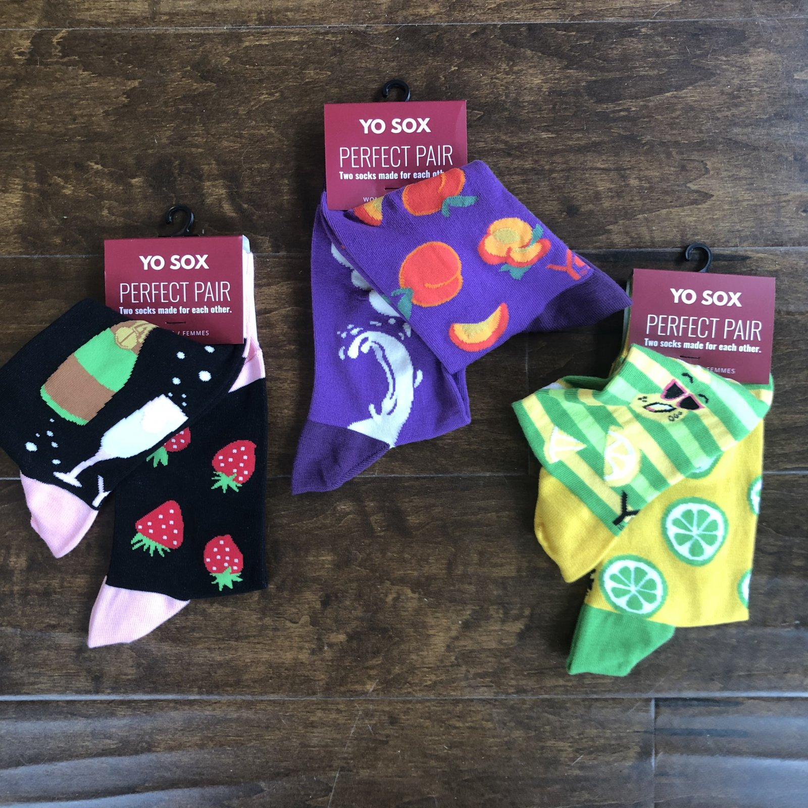 Yo Sox Perfect Pair Socks - Women's (Champagne, Lemon, Peaches)