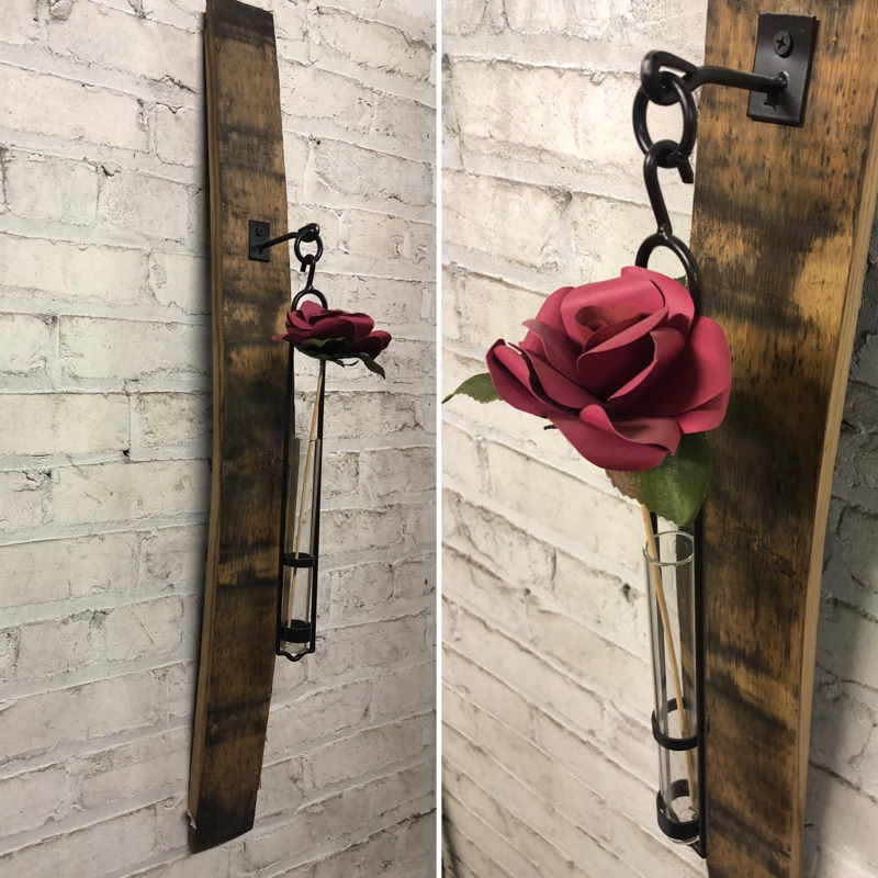 Barrel Stave Hanging Stem Vase