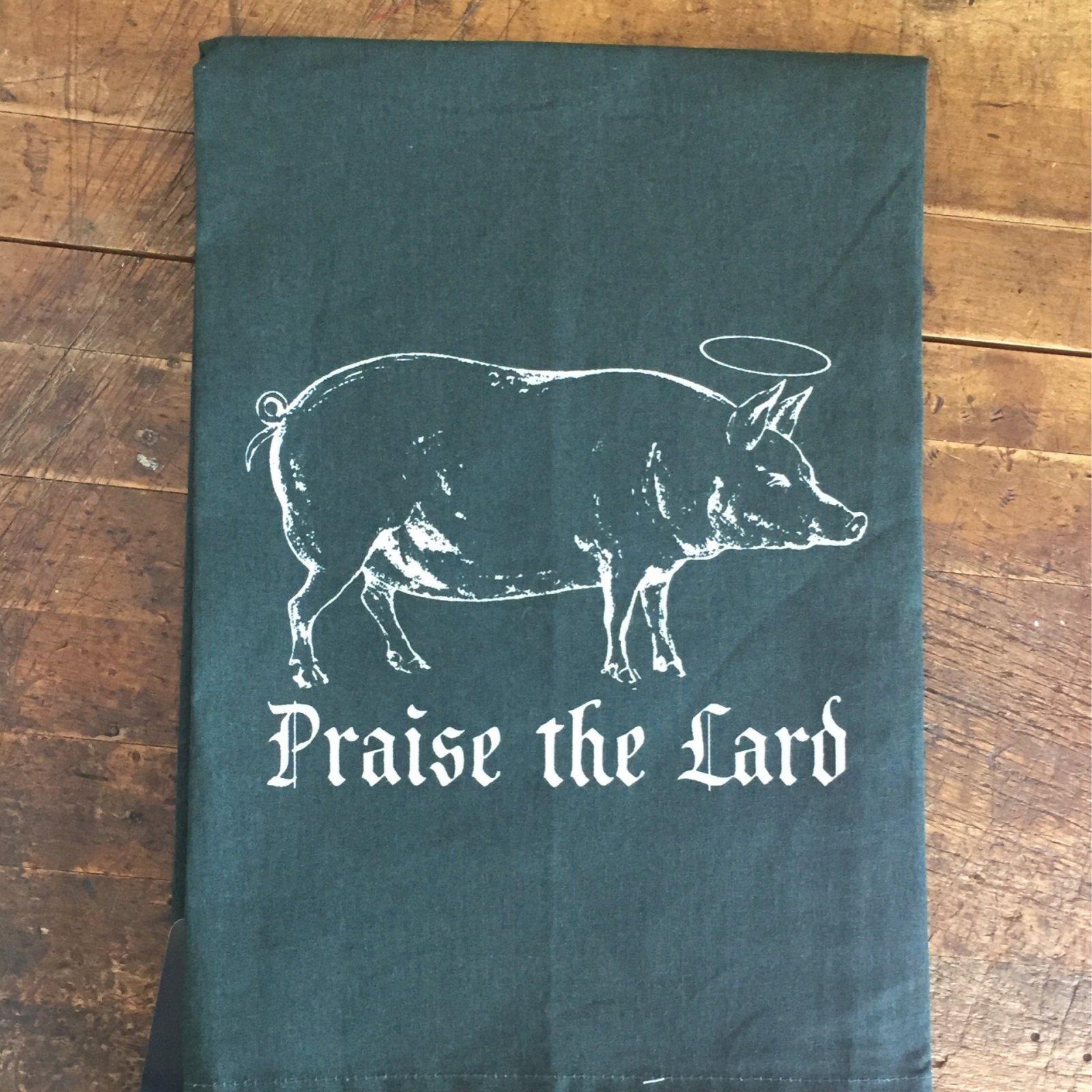 Twisted Wares - Praise The Lard Tea Towel