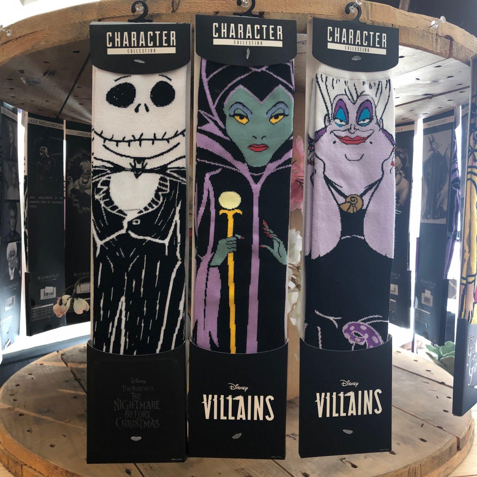 Villian Socks (Ursula, Jack, Maleficent)