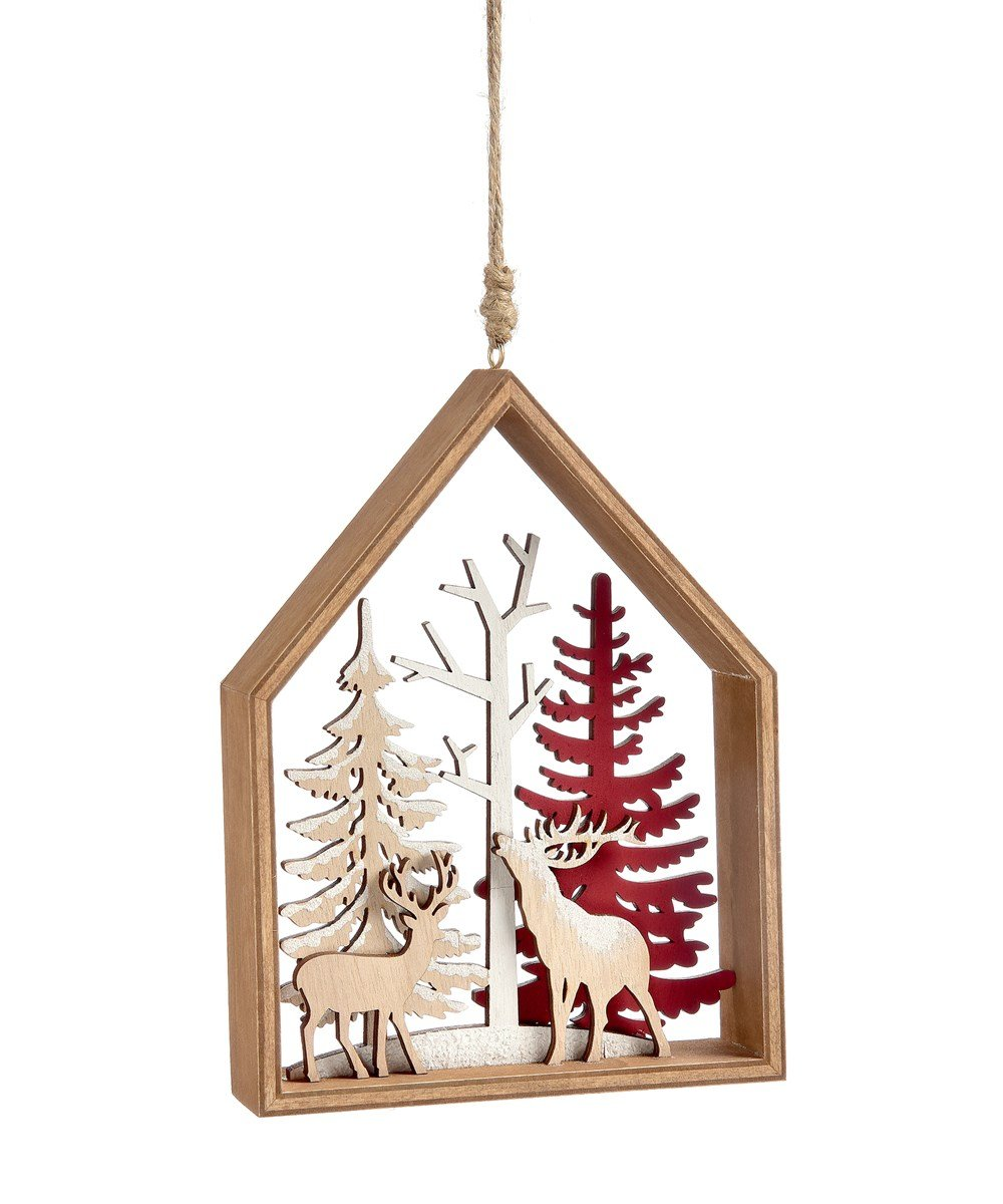 Framed Deer Ornament