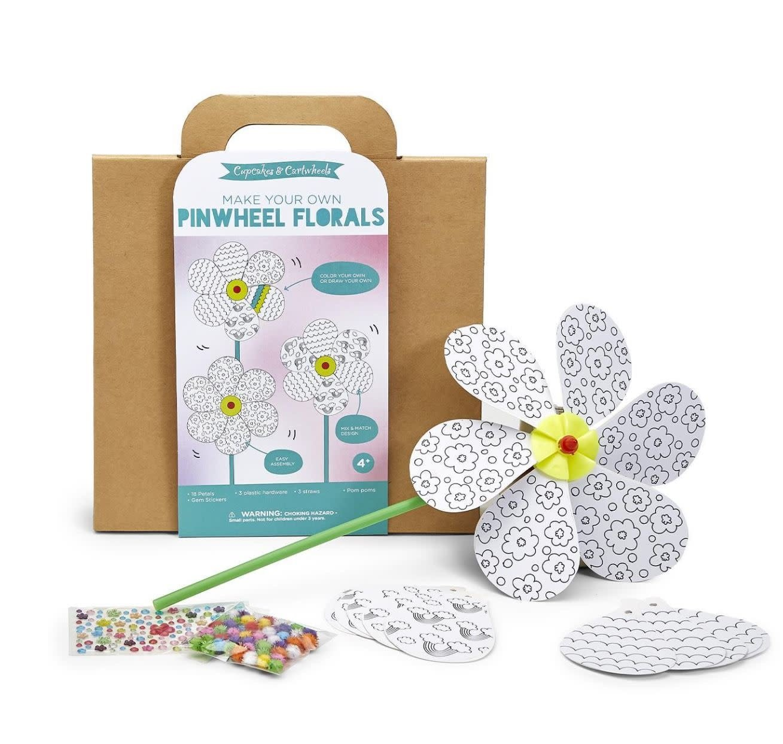 Make your own flower pinwheel