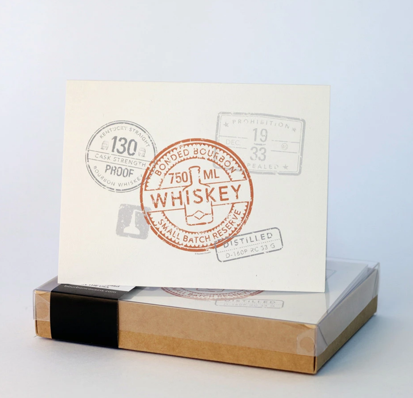 Bourbon Cousins 10 Blank Notecard Whiskey