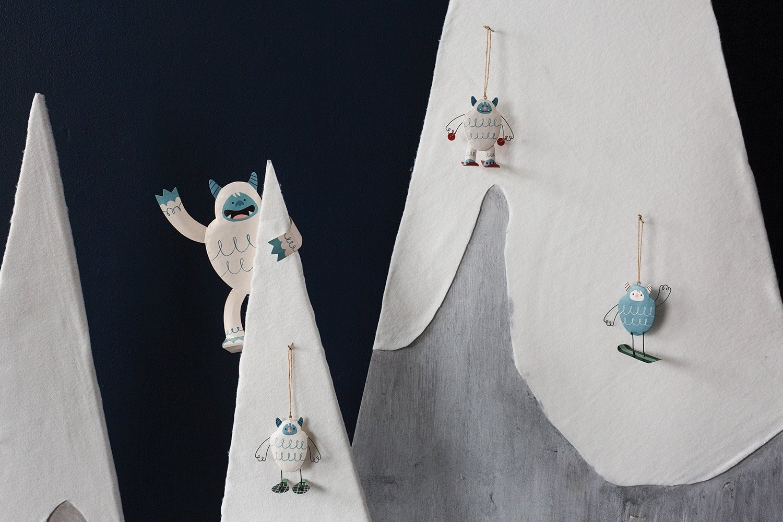 AD Yeti Ski Bum Ornament