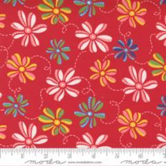 21792 12 Ribbon Daisy Red